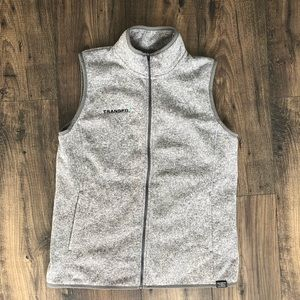L. L. Bean Grey Fleece Vest Layering